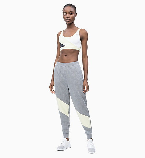 CALVIN KLEIN Jogginghose in Blockfarben-Design - MEDIUM GREY HEATHER - CALVIN KLEIN NEW IN - main image 1