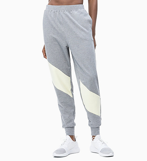CALVIN KLEIN Jogginghose in Blockfarben-Design - MEDIUM GREY HEATHER - CALVIN KLEIN NEW IN - main image
