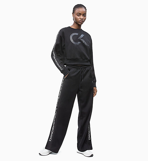 CALVIN KLEIN Side Stripe Tracksuit Bottoms - CK BLACK - CALVIN KLEIN NEW INS - detail image 1