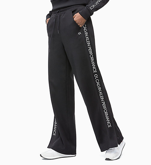 CALVIN KLEIN Side Stripe Tracksuit Bottoms - CK BLACK - CALVIN KLEIN NEW INS - main image
