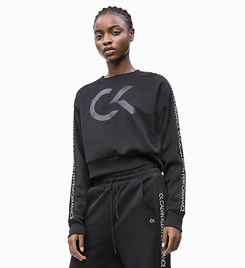 CALVIN KLEIN Cropped Logo-Sweatshirt - CK BLACK - CALVIN KLEIN NEW IN - main image