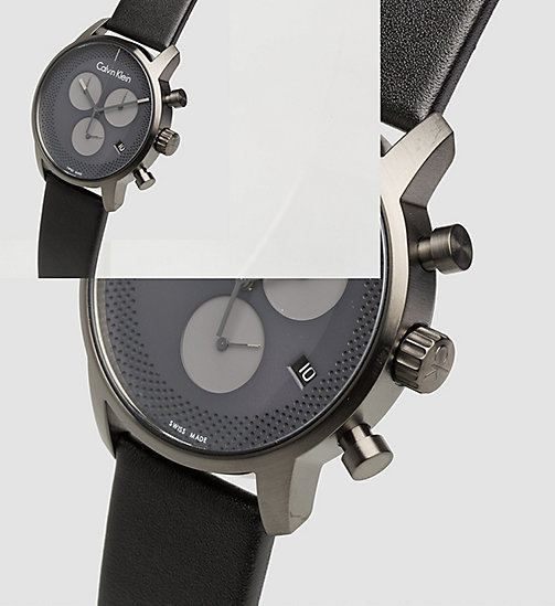 CALVIN KLEIN Watch - Calvin Klein City - PVDGR BLACK / GREY - CALVIN KLEIN MEN - detail image 1