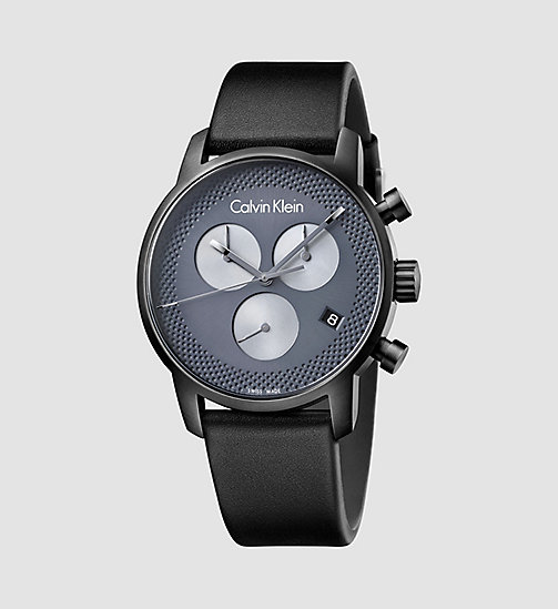 CALVINKLEIN Watch - Calvin Klein City - PVDGR BLACK / GREY - CALVIN KLEIN MEN - main image