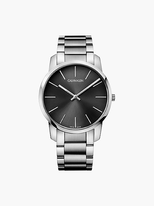 CALVINKLEIN Watch - Calvin Klein City - BLACK - CALVIN KLEIN WATCHES & JEWELLERY - main image