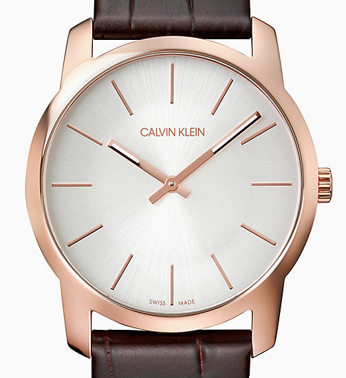 CALVIN KLEIN Watch - Calvin Klein City - PINK / BROWN - CALVIN KLEIN GIFTS - detail image 1