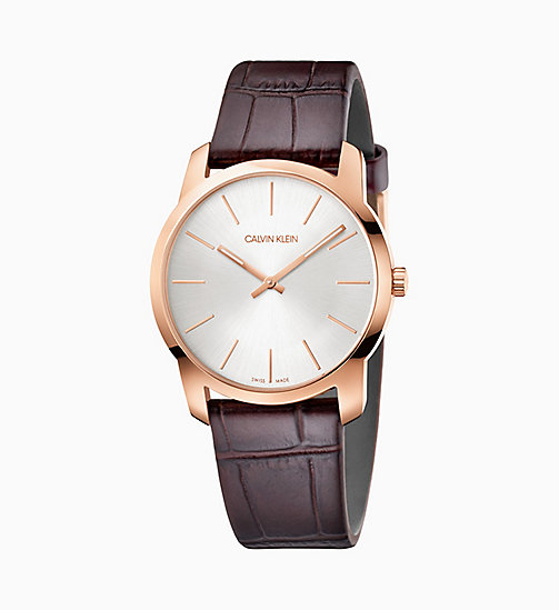 CALVIN KLEIN Watch - Calvin Klein City - PINK / BROWN - CALVIN KLEIN GIFTS - main image