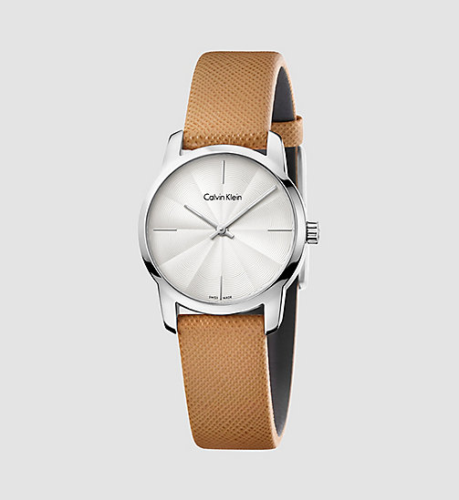 CALVINKLEIN Watch - Calvin Klein City - SST / BROWN / SILVER - CALVIN KLEIN WATCHES & JEWELLERY - main image