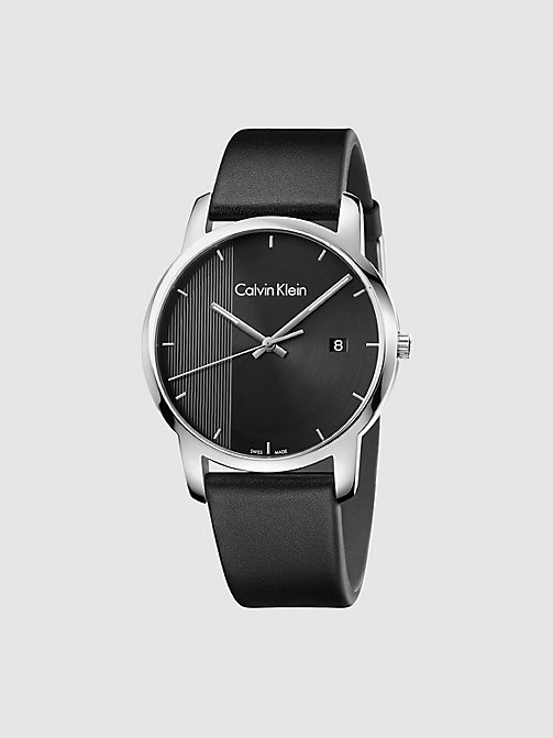 CALVINKLEIN Watch - Calvin Klein City - SST / BLACK / BLACK - CALVIN KLEIN WATCHES & JEWELLERY - main image