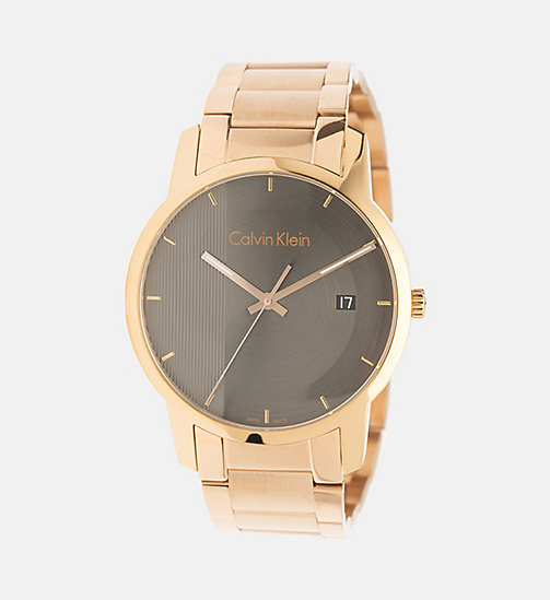 CALVINKLEIN Watch - Calvin Klein City - PINK GOLD  /  BLACK - CALVIN KLEIN WATCHES & JEWELLERY - main image