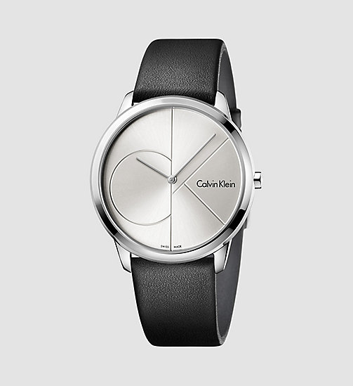 CALVINKLEIN Watch - Calvin Klein Minimal - SST/BLACK/SILVER - CALVIN KLEIN WATCHES & JEWELLERY - main image