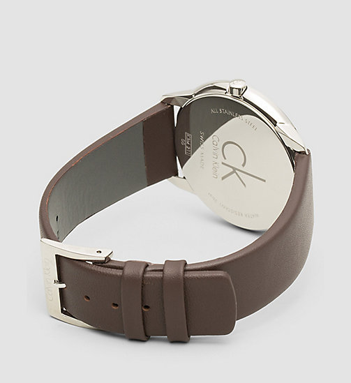 CALVINKLEIN Watch - Calvin Klein Minimal - SST / BROWN / SILVER - CALVIN KLEIN WATCHES & JEWELLERY - detail image 1