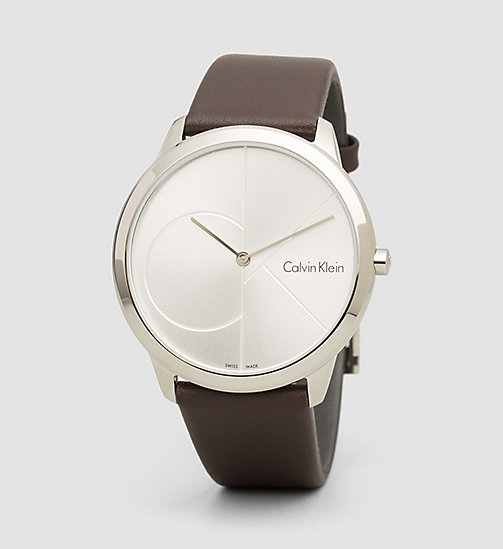 CALVINKLEIN Watch - Calvin Klein Minimal - SST / BROWN / SILVER - CALVIN KLEIN WATCHES & JEWELLERY - main image