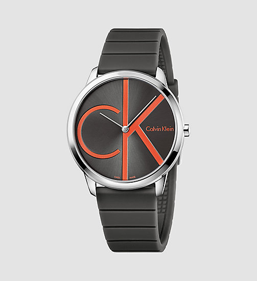 CALVINKLEIN Watch - Calvin Klein Minimal - SST / COOL GREY/ RED - CALVIN KLEIN WATCHES & JEWELLERY - main image