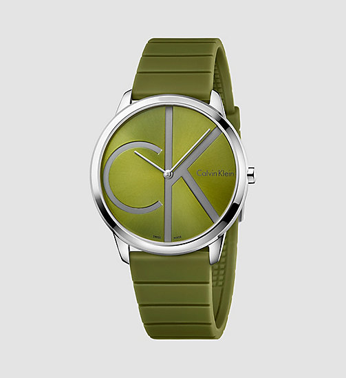 CALVINKLEIN Watch - Calvin Klein Minimal - SST / GREEN / GREY - CALVIN KLEIN WATCHES & JEWELLERY - main image