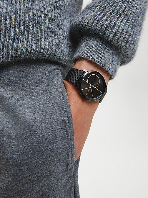 CALVINKLEIN Watch - Calvin Klein Minimal - BLACK / BLACK - CALVIN KLEIN WATCHES - detail image 1
