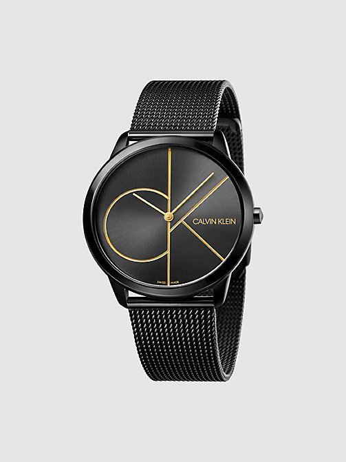 CALVINKLEIN Watch - Calvin Klein Minimal - BLACK/BLACK - CALVIN KLEIN WATCHES & JEWELLERY - main image
