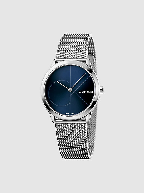 CALVINKLEIN Watch - Calvin Klein Minimal - SST / BLUE - CALVIN KLEIN WATCHES & JEWELLERY - main image