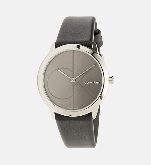 CALVINKLEIN Watch - Calvin Klein Minimal - SST/COOLGREY/BLACK - CALVIN KLEIN WATCHES & JEWELLERY - main image