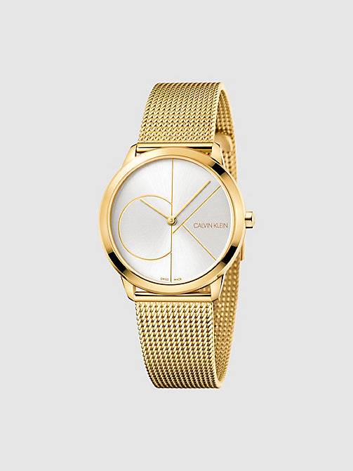 CALVIN KLEIN Watch - Calvin Klein Minimal - YELLOW GOLD  /  SILVER - CALVIN KLEIN WATCHES - main image