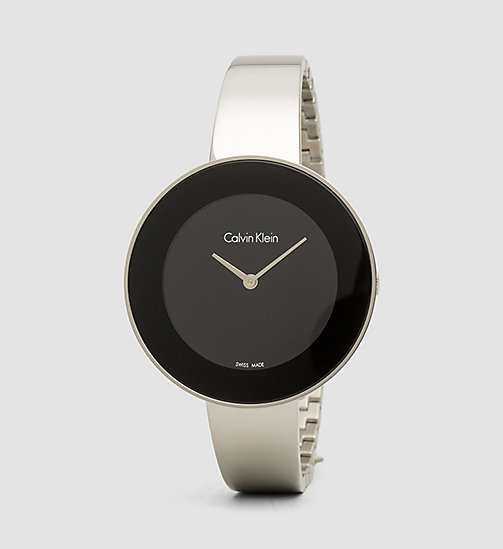 CALVINKLEIN Watch - Calvin Klein Chic - SST / BLACK - CALVIN KLEIN WATCHES & JEWELLERY - main image