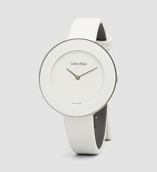 CALVINKLEIN Watch - Calvin Klein Chic - SST / WHITE - CALVIN KLEIN WATCHES & JEWELLERY - main image