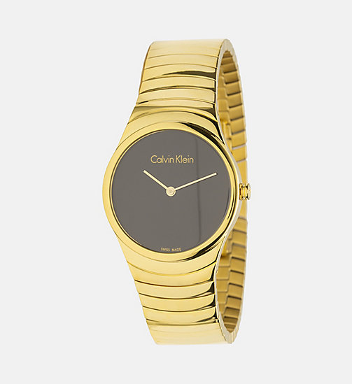 CALVINKLEIN Watch - Calvin Klein Whirl - YELLOWGOLD/BLACK - CALVIN KLEIN WATCHES & JEWELLERY - main image