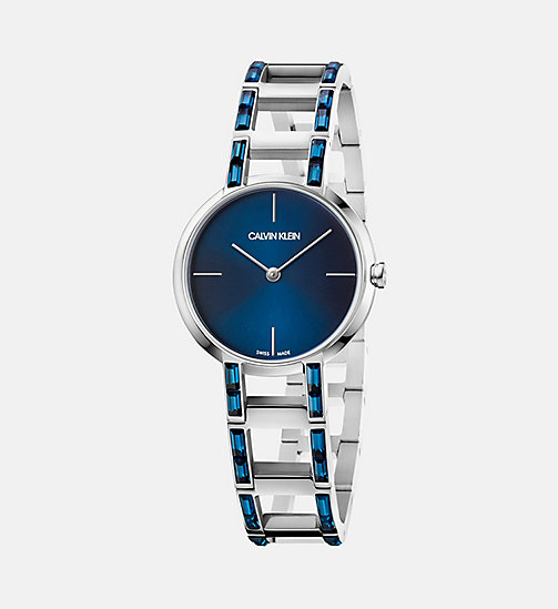 CALVINKLEIN Watch - Calvin Klein Cheers - SILVER / BLUE - CALVIN KLEIN WATCHES - main image