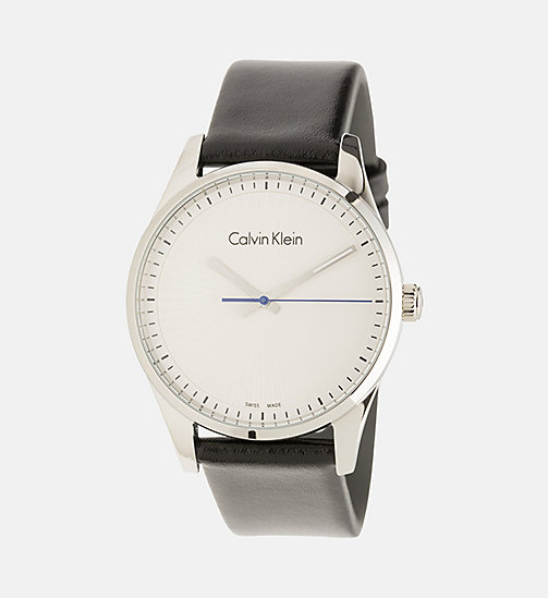 CALVINKLEIN Watch - Calvin Klein Steadfast - SST/SILVER/BLACK - CALVIN KLEIN WATCHES & JEWELLERY - main image