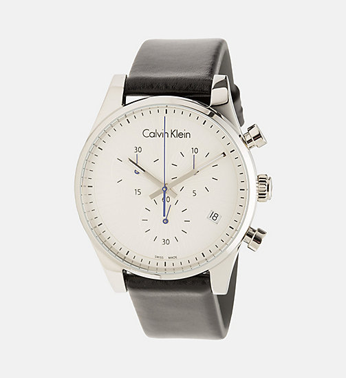 CALVIN KLEIN Watch - Calvin Klein Steadfast - SST/SILVER/BLACK - CALVIN KLEIN WATCHES & JEWELLERY - main image
