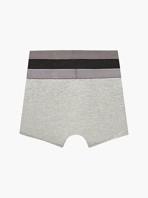 CALVINKLEIN 2er-Pack Jungen-Shorts - Customized Stretch - 1 BLACK / 1 GREY HEATHER - CALVIN KLEIN UNTERWÄSCHE - main image 1
