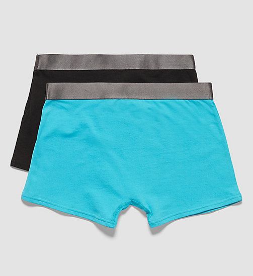 CALVINKLEIN 2er-Pack Jungen-Shorts - Customized Stretch - 1 SCUBA BLUE / 1 BLACK - CALVIN KLEIN UNTERWÄSCHE - main image 1