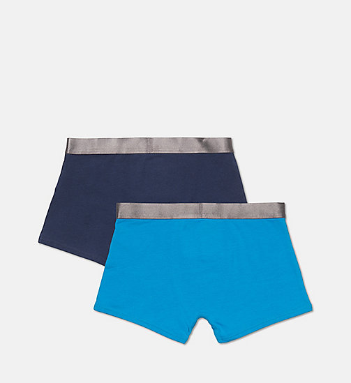 CALVINKLEIN 2-pack jongens boxers - Customized Stretch - 1 BLUE JEWEL/ 1 BLUE SHADOW - CALVIN KLEIN ONDERGOED - detail image 1