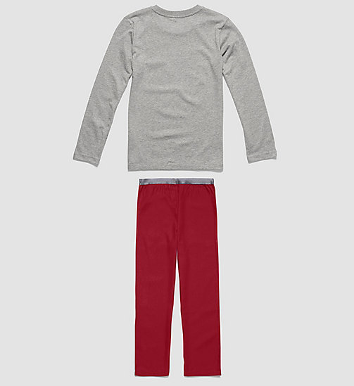 CALVINKLEIN Boys PJ Set - Customized Stretch - GREY HEATHER/RHUBARB - CALVIN KLEIN UNDERWEAR - detail image 1