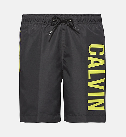 CALVINKLEIN Boys Swim Shorts - Intense Power - BLACK - CALVIN KLEIN SWIMWEAR - main image