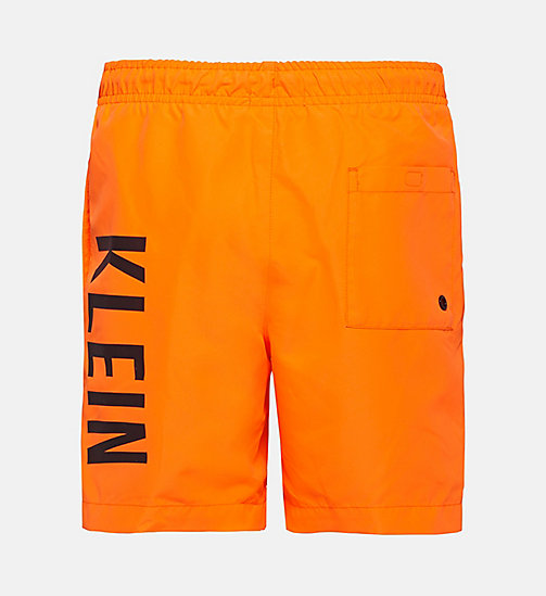 CALVINKLEIN Boys Swim Shorts - Intense Power - SHOCKING ORANGE - CALVIN KLEIN SWIMWEAR - detail image 1