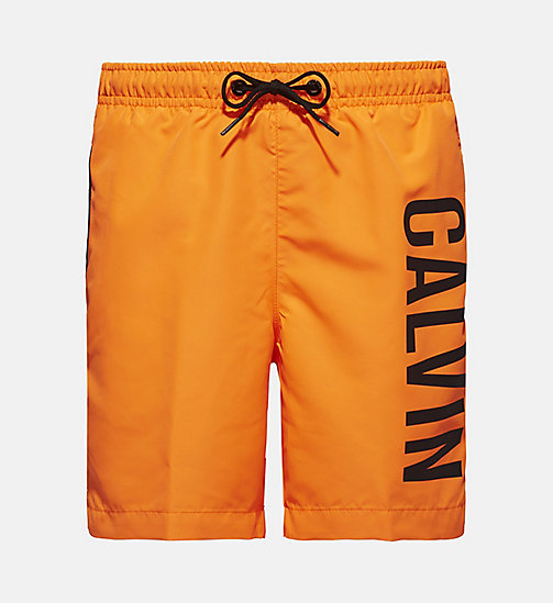 CALVINKLEIN Boys Swim Shorts - Intense Power - SHOCKING ORANGE - CALVIN KLEIN SWIMWEAR - main image