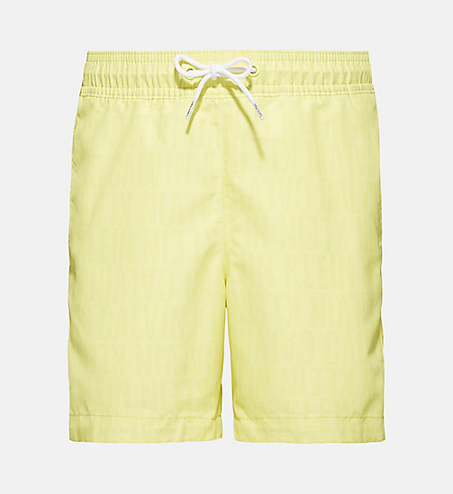CALVINKLEIN Boys Swim Shorts - Tonic - TONIC PRINT LEMON TONIC - CALVIN KLEIN Boys - main image