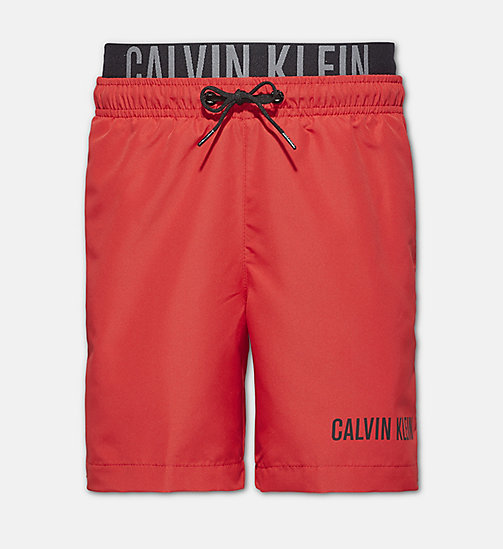 CALVINKLEIN Boys Swim Shorts - Intense Power - SALSA - CALVIN KLEIN SWIMWEAR - main image