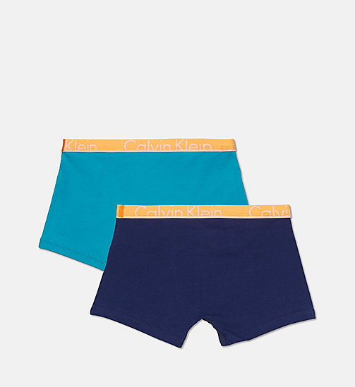 CALVINKLEIN 2 Pack Boys Trunks - Modern Cotton - 1 BLUEPRINT/1 CAPRI BREEZE - CALVIN KLEIN UNDERWEAR - detail image 1