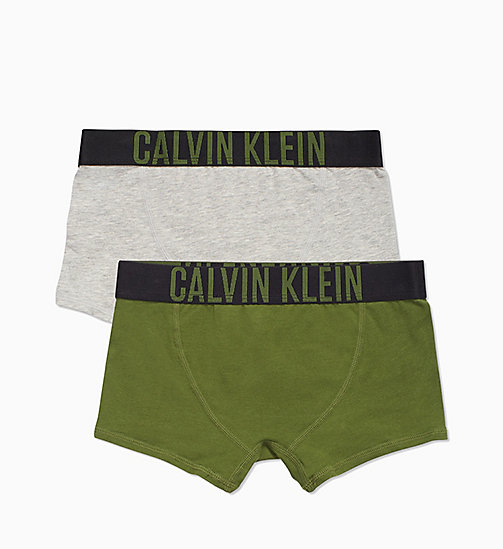 CALVIN KLEIN 2 Pack Boys Trunks - Intense Power - 1GREYHEATHER/1CHIVE - CALVIN KLEIN BOYS - detail image 1