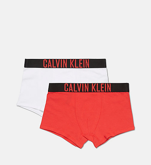 CALVINKLEIN 2 Pack Boys Trunks - Intense Power - 1 TOMATO RED/ 1 WHITE -  BOYS - main image