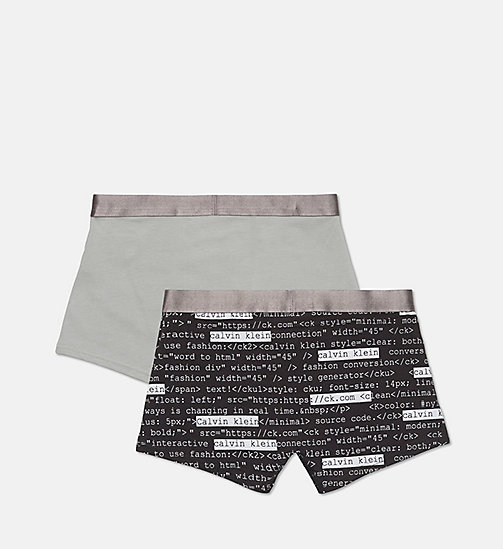 CALVINKLEIN 2 Pack Boys Trunks - Customized Stretch - 1 CALVIN HTML BLK/ 1 MEDIUM GREY - CALVIN KLEIN BOYS - detail image 1
