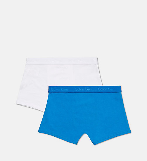CALVINKLEIN 2 Pack Boys Trunks - Infinite - 1 DIRECTOIRE BLUE/ 1 WHITE - CALVIN KLEIN BOYS - detail image 1