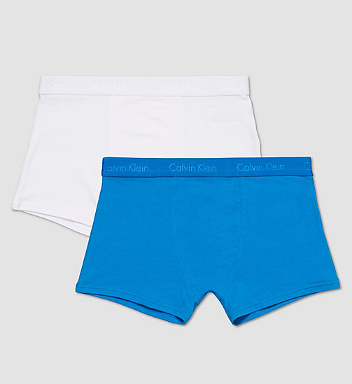 CALVINKLEIN 2 Pack Boys Trunks - Infinite - 1 DIRECTOIRE BLUE/ 1 WHITE - CALVIN KLEIN BOYS - main image
