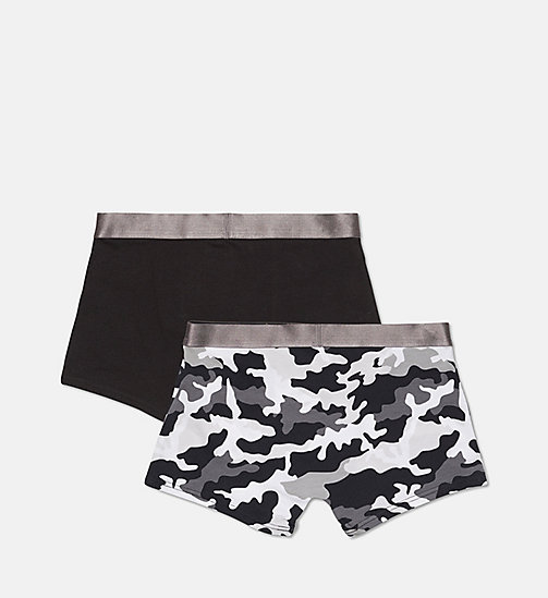 CALVINKLEIN 2 Pack Boys Trunks - Customized Stretch - 1 MD CAMO BLK/1 BLACK - CALVIN KLEIN BOYS - detail image 1