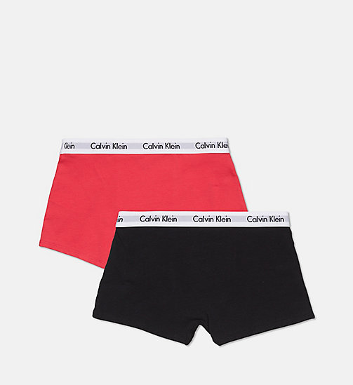 CALVINKLEIN 2 Pack Boys Trunks - Modern Cotton - 1 BLACK/1 RASPBERRY - CALVIN KLEIN BOYS - detail image 1