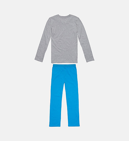 CALVINKLEIN Jongens PJ-set - Infinite - GREY HEATHER W/ BLUE JEWEL - CALVIN KLEIN JONGENS - detail image 1