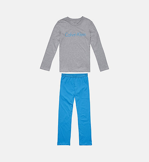 CALVINKLEIN Jongens PJ-set - Infinite - GREY HEATHER W/ BLUE JEWEL - CALVIN KLEIN JONGENS - main image