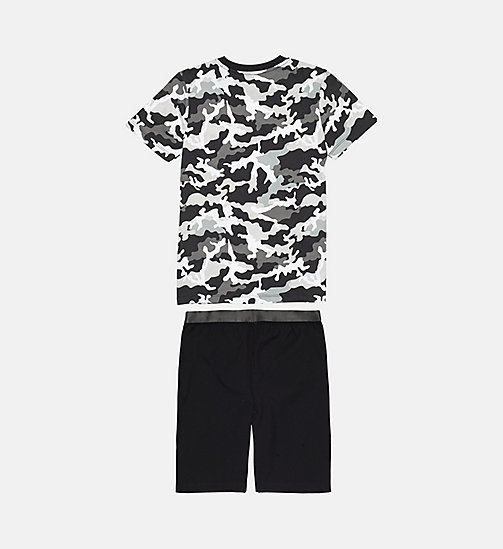 CALVINKLEIN Boys PJ Set - Customized Stretch - 1 MD CAMO BLK/1 BLACK - CALVIN KLEIN BOYS - detail image 1