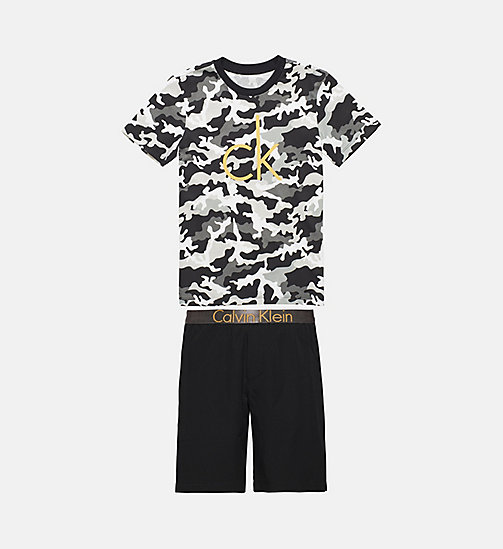 CALVINKLEIN Boys PJ Set - Customized Stretch - 1 MD CAMO BLK/1 BLACK - CALVIN KLEIN BOYS - main image